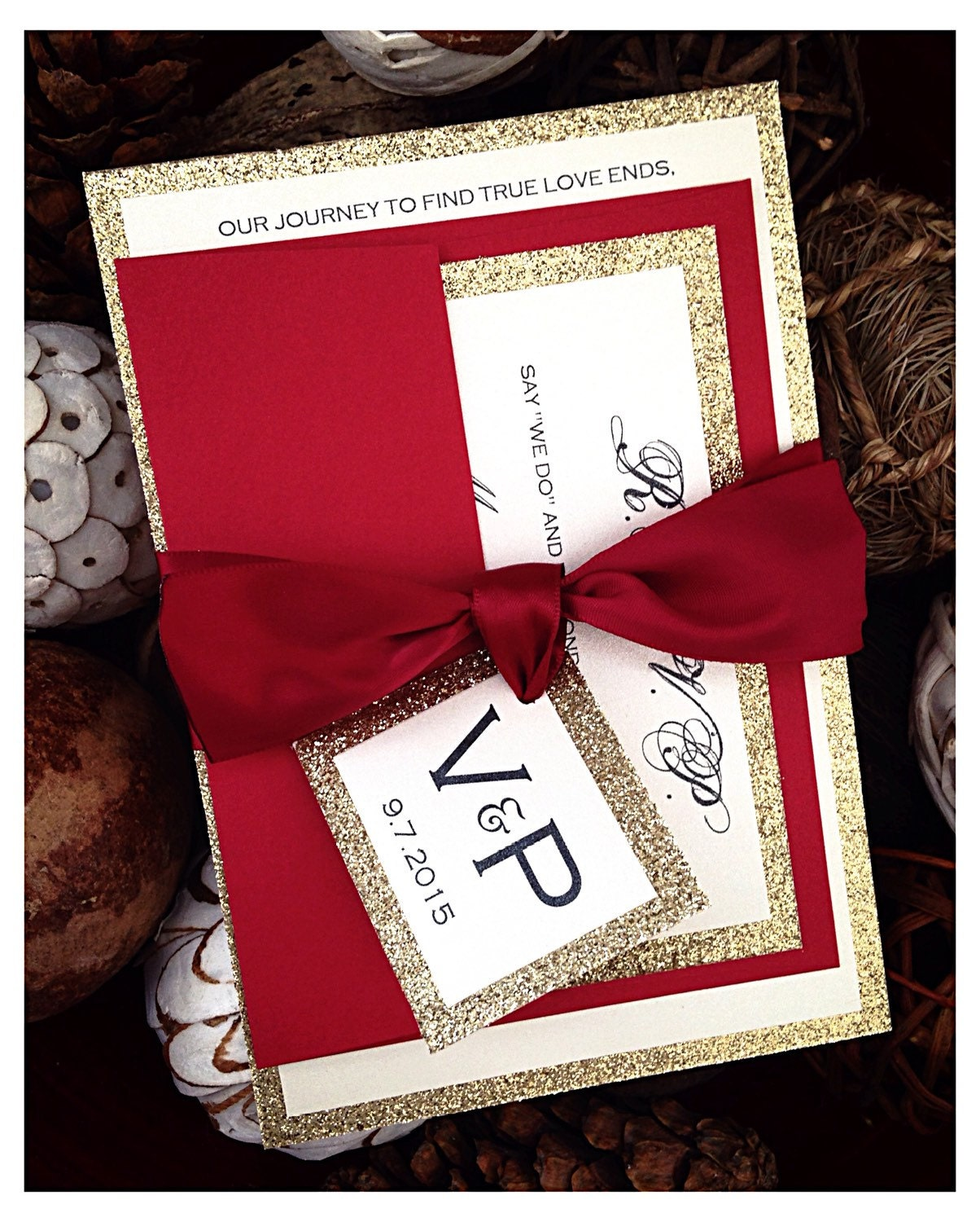 red wedding invitations red and gold glitter wedding With red and gold glitter wedding invitations