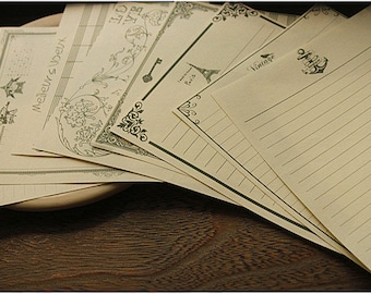 8 Sheets High Quality White Writing Paper - Stationery - Letter Paper - White Paper - Filofax