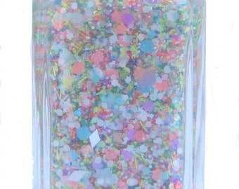 Cupcake Blizzard - handmade glitter nail polish