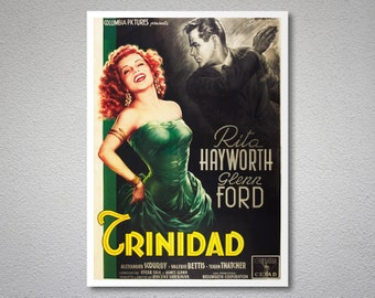 Trinidad Movie Poster -  Rita Hayworth, Glenn Ford - Poster Paper, Sticker or Canvas Print