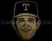 Nolan Ryan Texas Jumbotron Art - Limited Edition Gold Foil Print, 12 x12