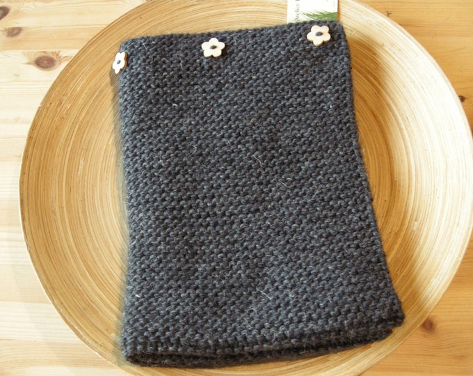 Baby blanket - alpaca, wool & linen - dark grey - natural baby - other colors made to order- free shipping worldwide
