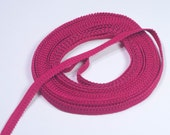 "5 Yards Fuschia Pink  3/8"" Decorative Picot Panty Elastic  Bramaking Bra Making Supplies Lingerie Sewing"