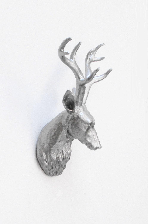 Deer Head White Deer Head Faux Taxidermy Stag By Hodihomedecor