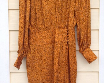 1980s Vintage size 6 Flora kung dress