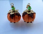 Pumpkin Autumn festive thanksgiving earrings