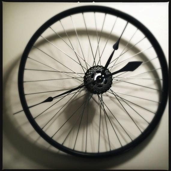 Bicycle Wheel Clock Bicycle Clock Bike Wall by ...