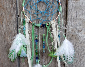 Blue and Turquoise Dream Catcher