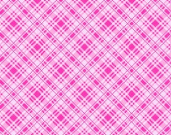 Sausalito Cottage Diagonal Check in Raspberry by Holly Holderman