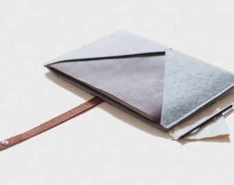 "MacBook Pro Sleeve 15 Inch Retina Display ""Rough Edge"" - leather, wool felt"