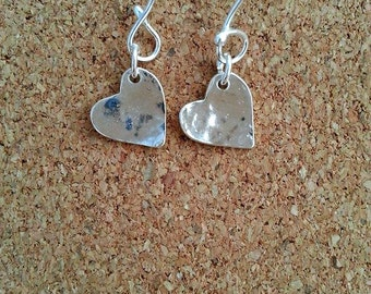 Heart earrings, Dangle earrings, heart gift, Silver earrings, Heart jewelry, Love earrings, Silver heart earrings, Heart, Silver heart