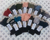 Boot Socks made from recycled sweaters.