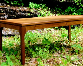 Coffee Table 'Deco Minima'  in Solid Black Walnut, Art Deco Furniture