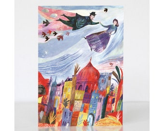 Greetings Card - Above the Old Town