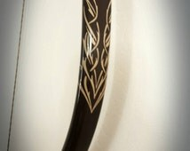 Brown Elvish Inspired Bow, The Hobbit, Lord Of The Rings, Made To Order