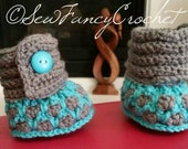 Honeycomb Baby Booties, Baby Shoes, Crib Shoes, Slippers, Baby Slippers, Booties, Socks, Boot Slippers, Crochet Booties, Crochet Shoes