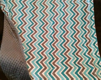 Minky chevron throw sized 46x60""