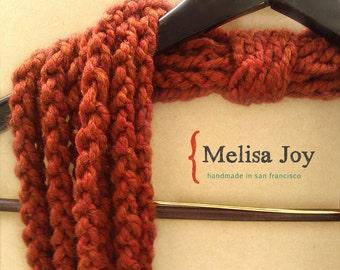 Crochet Infinity Scarf - Spice colored -handmade - chunky - circle scarf - loop scarf