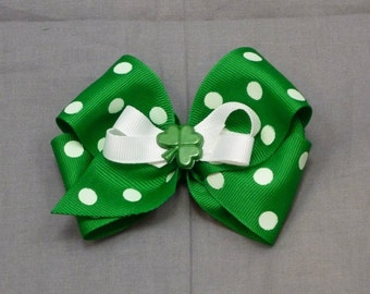 St. Patrick's Day Boutique Bow Clip