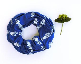ON SALE - Perennials Blue Cactus Scarf
