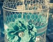 Beautiful Wedding Birdcage Card holder, Shabby Chic