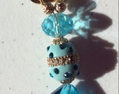 Dark teal 2 with gold key clasp