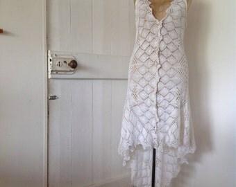 Women's Bohemian crochet Dress.Size 6 to 12.