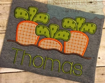 Growing Carrots Machine Embroidery Applique Design