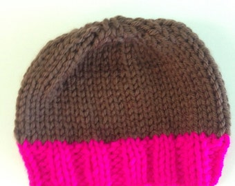Hand Knit Premie/Baby Hat-Free Shipping in the US