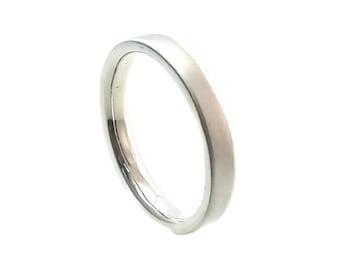 Flat 4mm Wedding Band Ring 925 Sterling Silver,Comfort Fit,Tungsten Ring,4mm Wedding Ring,His and Her,Eco Friendly,Handmade Wedding Ring