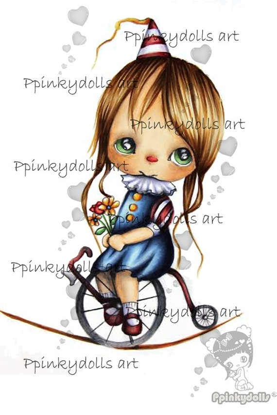 INSTANT DOWNLOAD Digital Digi Stamps..by Chrishanthi's art,Candy circus Bebe.