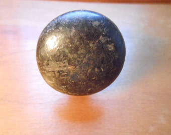 Antique Primitive Wooden Dresser Drawer Furniture Knob Nice Patina 1 7/8 Inches Restoration Hardware Salvage Shabby Chic