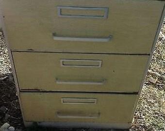 Vintage Simplicity Sewing Pattern Cabinet file drawer