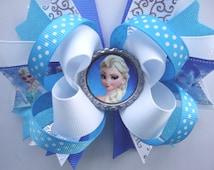 Elsa Inspired Bow - Frozen Bow - Elsa Party Favor - Queen Elsa hair bow - Boutique Elsa Bows