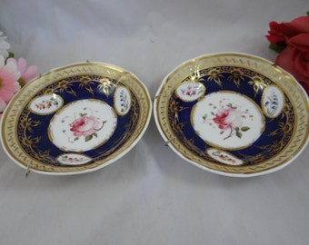 Antique Vintage Hand Painted Pink Rose Small Bowls Ready for Hanging  Candy Dish Nut Bowl - Delightful