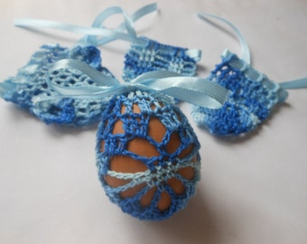 Crochet Easter Egg Cover Cozy, Set of 4 Hand Crocheted Easter Eggs Easter Decoration