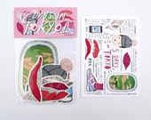 5 Days in Tokyo - 8 PC Sticker Pack by Kitty N. Wong