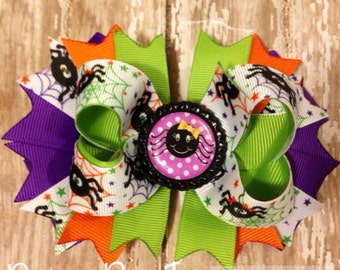 Halloween Boutique Style Hairbow