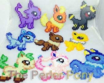 Eeveelution Perler Pokemon Eevee Set: From Single to The Whole Set! Sylveon, Flareon, Jolteon, Umbreon, Glaceon, Leafeon, Espeon, Vaporeon