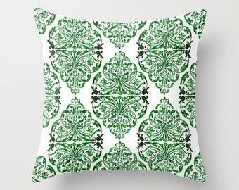 Green Pillow cover Retro Pillow Throw pillow Cushion covers Pillow case Accent pillow Couch pillow Geometric pillows Pattern Pillow Gift