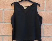 SLEEVELESS BLACK BLOUSE