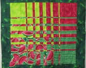 Summer Bounty - a bright, fanciful quilted wall-hanging