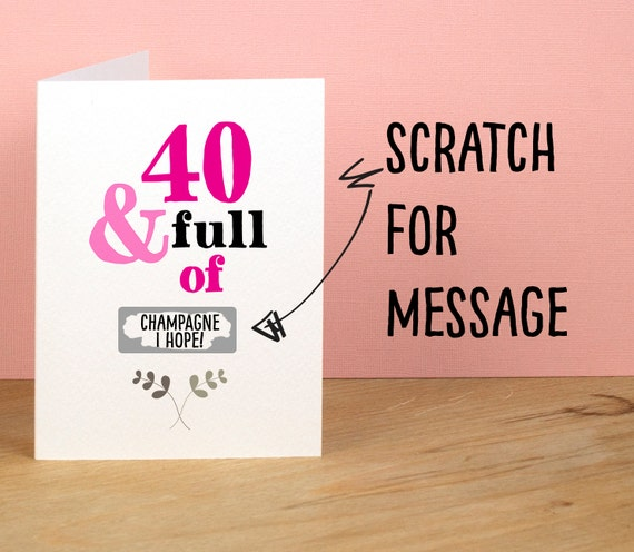 40th Birthday Card 40 and Full of Rude Sarcastic Humorous – Humorous 40th Birthday Cards