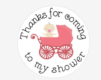 """Baby Shower 2.5"""" Favor Stickers"""
