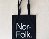 Minimalist black and white tote bag for the minimal monochrome lover