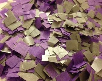 Biodegradable Wedding Confetti - Purple and Metallic Silver Confetti to Throw / Bio-degradable Flower Girl Confetti / Wedding Decoration
