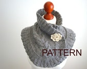 PATTERN for a neck warmer with cable pattern