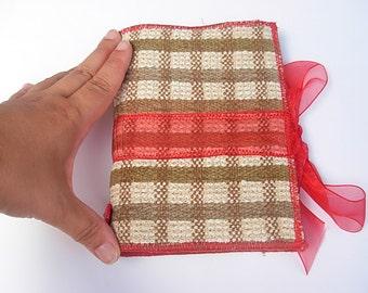 SUPER SALE - It's a red red ribbon - handbound journal