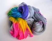Beyond the clouds Rainbow Stripe Sock Yarn