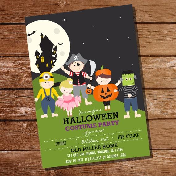 Items Similar To Halloween Costume Party Invitation